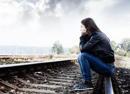 sad teenage girl